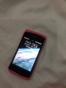 iPhone with the cover on